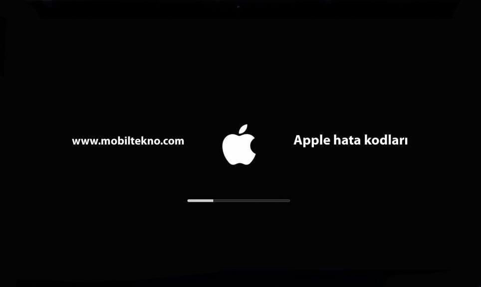 Apple hata kodları ve nedenleri
